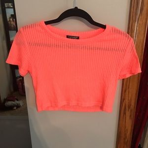 Topshop very cropped shirt